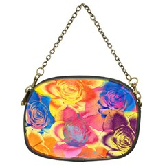 Pop Art Roses Chain Purses (one Side)  by DanaeStudio