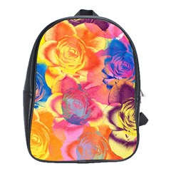 Pop Art Roses School Bags(large)  by DanaeStudio