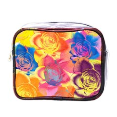 Pop Art Roses Mini Toiletries Bags