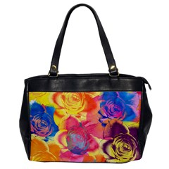 Pop Art Roses Office Handbags by DanaeStudio