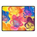 Pop Art Roses Fleece Blanket (Small) 50 x40 Blanket Front