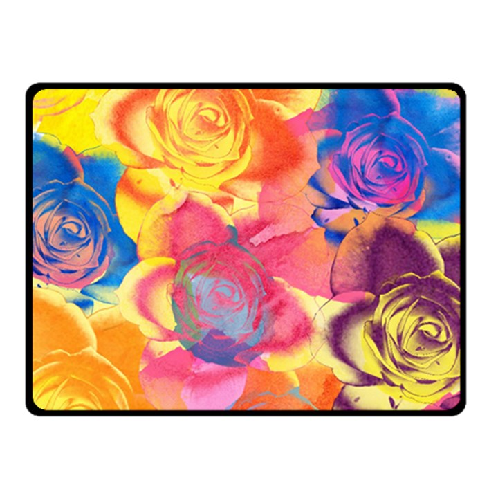 Pop Art Roses Fleece Blanket (Small)