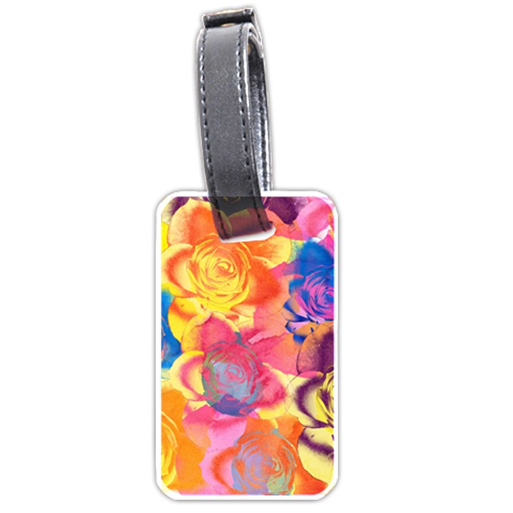 Pop Art Roses Luggage Tags (One Side)