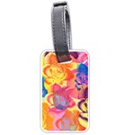 Pop Art Roses Luggage Tags (Two Sides) Back