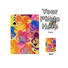 Pop Art Roses Playing Cards 54 (mini)  by DanaeStudio