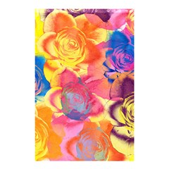 Pop Art Roses Shower Curtain 48  X 72  (small)  by DanaeStudio