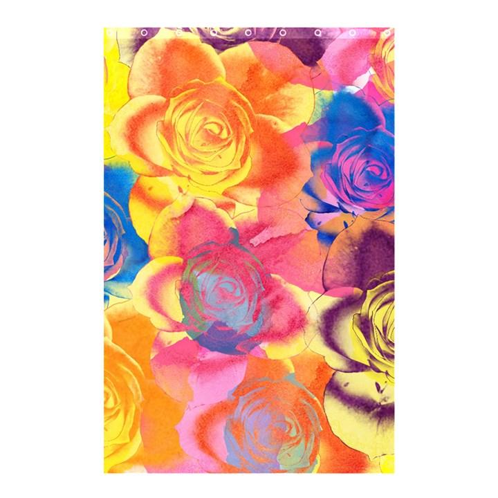 Pop Art Roses Shower Curtain 48  x 72  (Small)