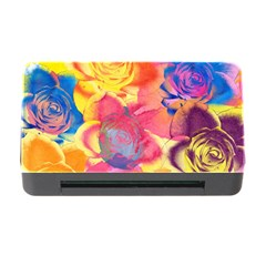 Pop Art Roses Memory Card Reader With Cf by DanaeStudio