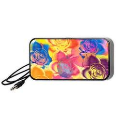 Pop Art Roses Portable Speaker (black)