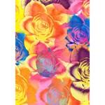 Pop Art Roses WORK HARD 3D Greeting Card (7x5) Inside