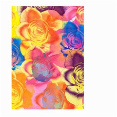Pop Art Roses Large Garden Flag (two Sides) by DanaeStudio