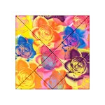 Pop Art Roses Acrylic Tangram Puzzle (4  x 4 ) Front