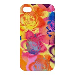 Pop Art Roses Apple Iphone 4/4s Premium Hardshell Case by DanaeStudio