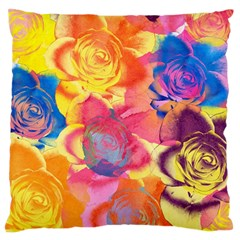 Pop Art Roses Large Cushion Case (two Sides)