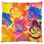 Pop Art Roses Large Cushion Case (Two Sides) Back