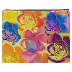 Pop Art Roses Cosmetic Bag (xxxl)  by DanaeStudio