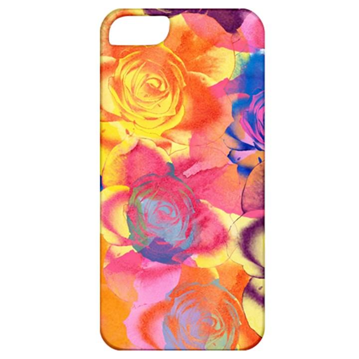 Pop Art Roses Apple iPhone 5 Classic Hardshell Case