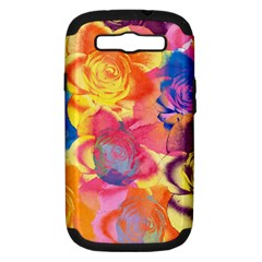 Pop Art Roses Samsung Galaxy S Iii Hardshell Case (pc+silicone) by DanaeStudio