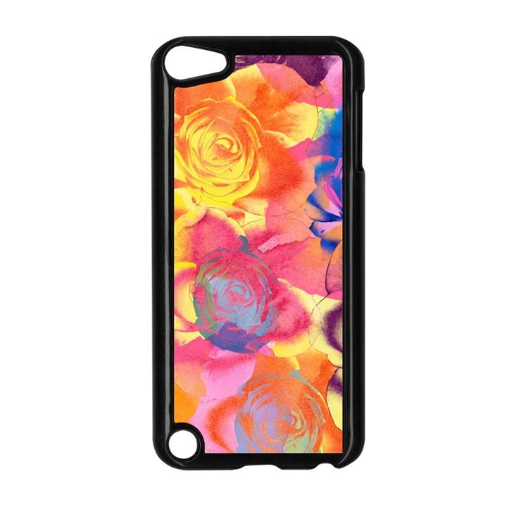 Pop Art Roses Apple iPod Touch 5 Case (Black)