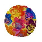 Pop Art Roses Standard 15  Premium Round Cushions Front