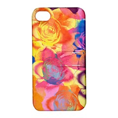 Pop Art Roses Apple Iphone 4/4s Hardshell Case With Stand by DanaeStudio