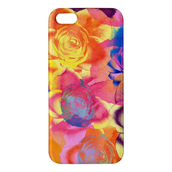 Pop Art Roses Apple iPhone 5 Premium Hardshell Case