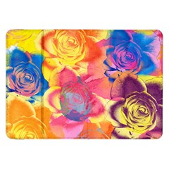 Pop Art Roses Samsung Galaxy Tab 8 9  P7300 Flip Case by DanaeStudio