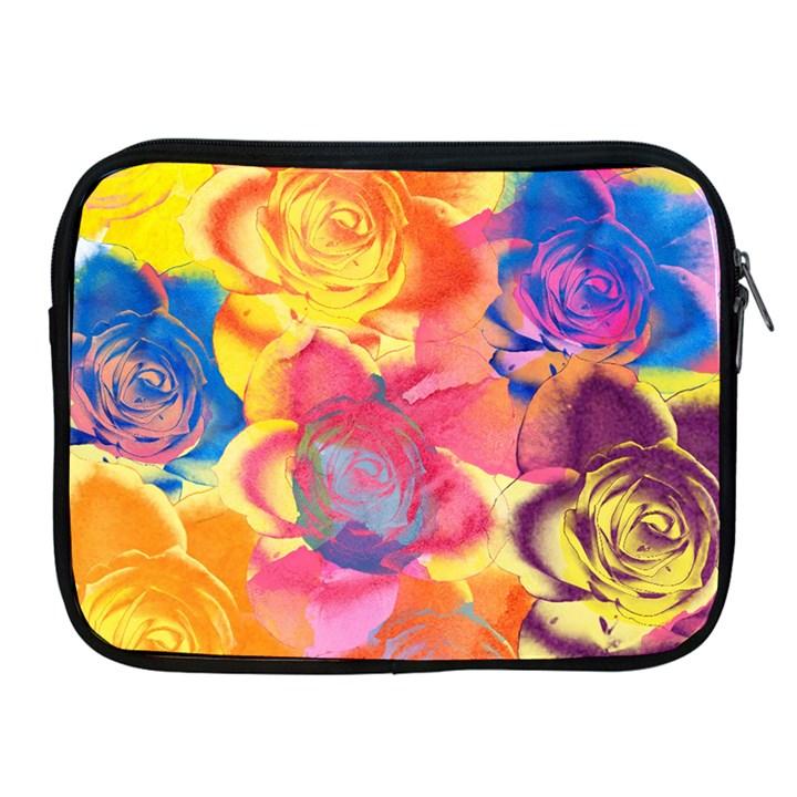 Pop Art Roses Apple iPad 2/3/4 Zipper Cases