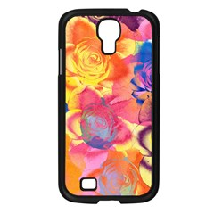 Pop Art Roses Samsung Galaxy S4 I9500/ I9505 Case (black) by DanaeStudio