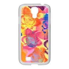 Pop Art Roses Samsung Galaxy S4 I9500/ I9505 Case (white) by DanaeStudio