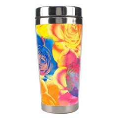 Pop Art Roses Stainless Steel Travel Tumblers by DanaeStudio