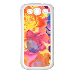 Pop Art Roses Samsung Galaxy S3 Back Case (white)