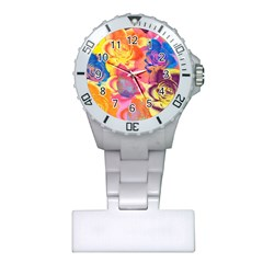 Pop Art Roses Plastic Nurses Watch by DanaeStudio