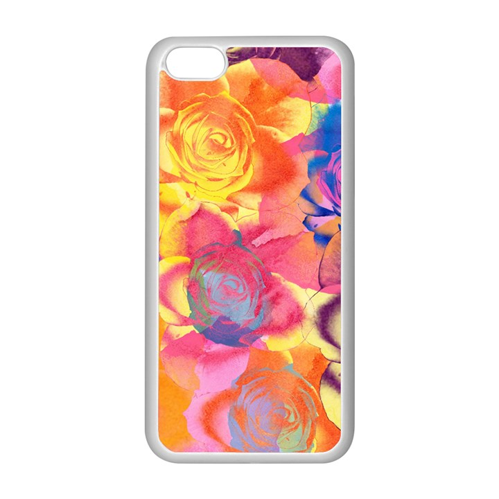 Pop Art Roses Apple iPhone 5C Seamless Case (White)