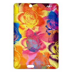 Pop Art Roses Amazon Kindle Fire Hd (2013) Hardshell Case by DanaeStudio