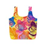Pop Art Roses Full Print Recycle Bags (S)  Back