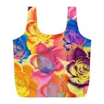 Pop Art Roses Full Print Recycle Bags (L)  Front