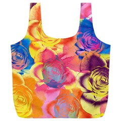 Pop Art Roses Full Print Recycle Bags (l)  by DanaeStudio