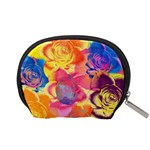 Pop Art Roses Accessory Pouches (Small)  Back