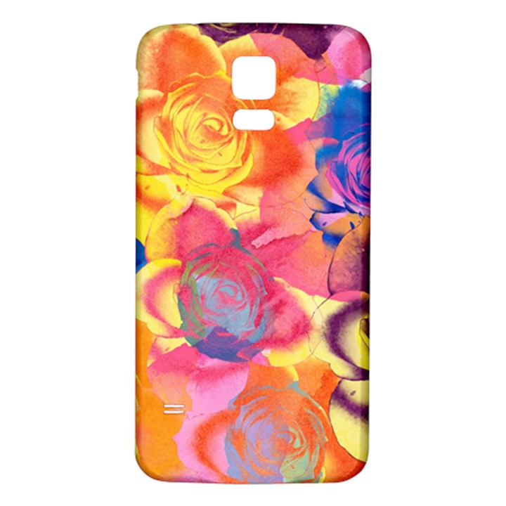 Pop Art Roses Samsung Galaxy S5 Back Case (White)