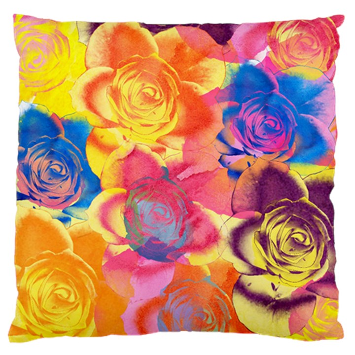 Pop Art Roses Standard Flano Cushion Case (One Side)