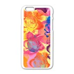 Pop Art Roses Apple iPhone 6/6S White Enamel Case Front