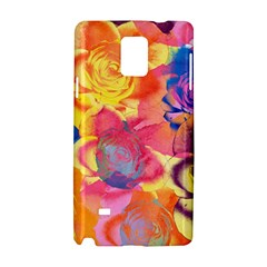 Pop Art Roses Samsung Galaxy Note 4 Hardshell Case by DanaeStudio