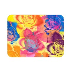 Pop Art Roses Double Sided Flano Blanket (mini)  by DanaeStudio