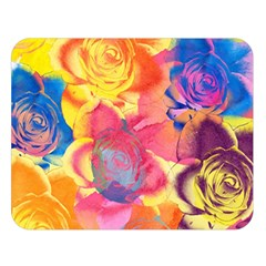 Pop Art Roses Double Sided Flano Blanket (large)  by DanaeStudio