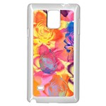 Pop Art Roses Samsung Galaxy Note 4 Case (White) Front