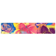 Pop Art Roses Flano Scarf (small)  by DanaeStudio
