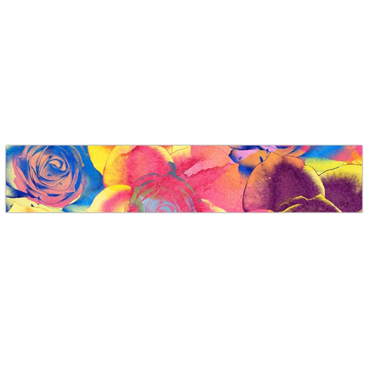 Pop Art Roses Flano Scarf (Large)