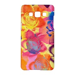 Pop Art Roses Samsung Galaxy A5 Hardshell Case  by DanaeStudio