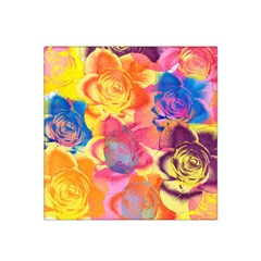 Pop Art Roses Satin Bandana Scarf by DanaeStudio